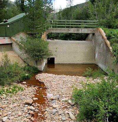 Jim Creek in Grand County, Colorado, a tributary to the Colorado River that is often drained dry by Denver Water